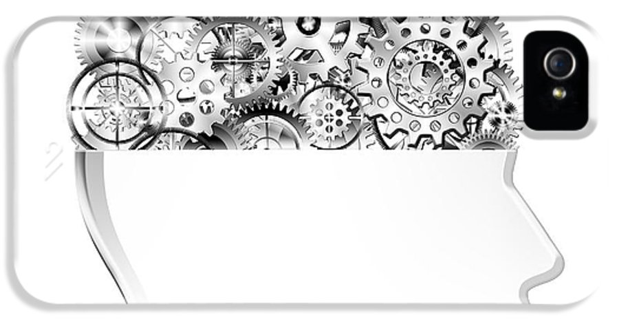 Art IPhone 5 Case featuring the photograph Brain Design By Cogs And Gears by Setsiri Silapasuwanchai