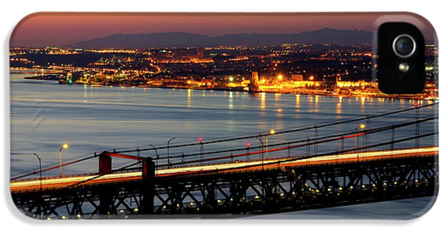 Architecture IPhone 5 Case featuring the photograph Bridge Over Tagus by Carlos Caetano