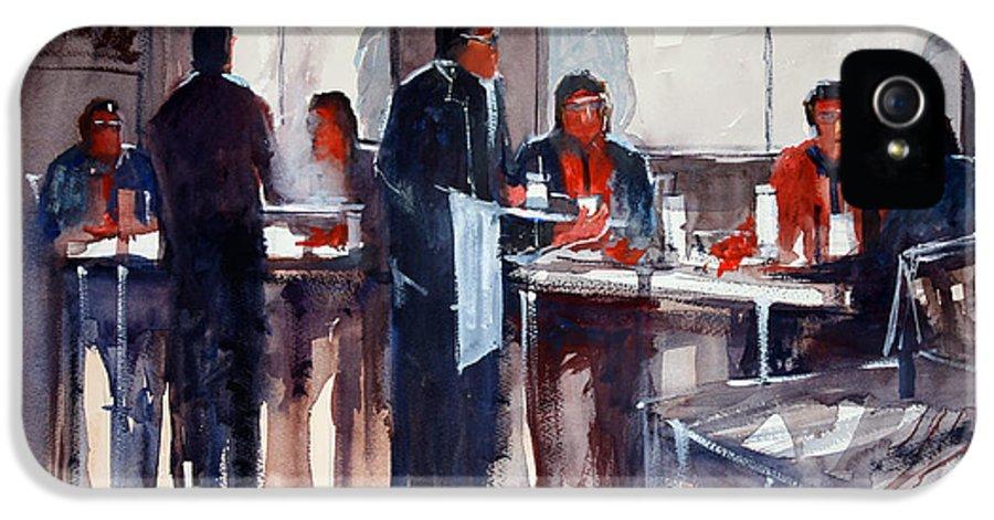 Ryan Radke IPhone 5 Case featuring the painting Business Lunch by Ryan Radke
