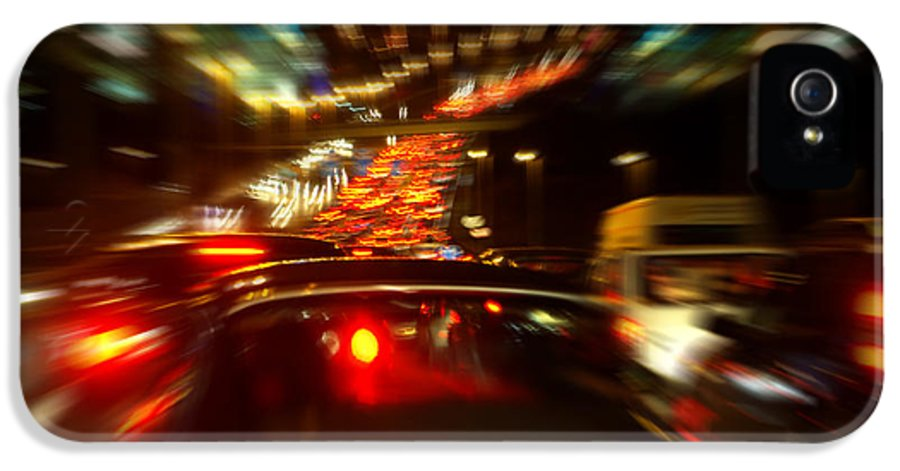 Asphalt IPhone 5 Case featuring the photograph Busy Highway by Carlos Caetano
