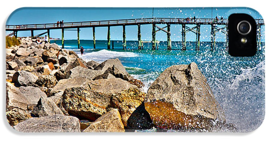 Pleasure IPhone 5 Case featuring the photograph By The Pier by Betsy Knapp