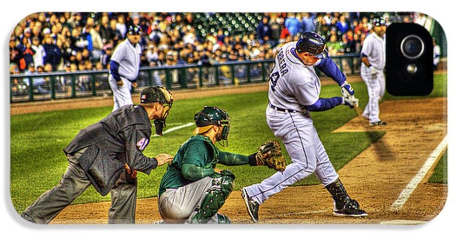 Cabrera IPhone 5 Case featuring the photograph Cabrera Grand Slam by Nicholas Grunas