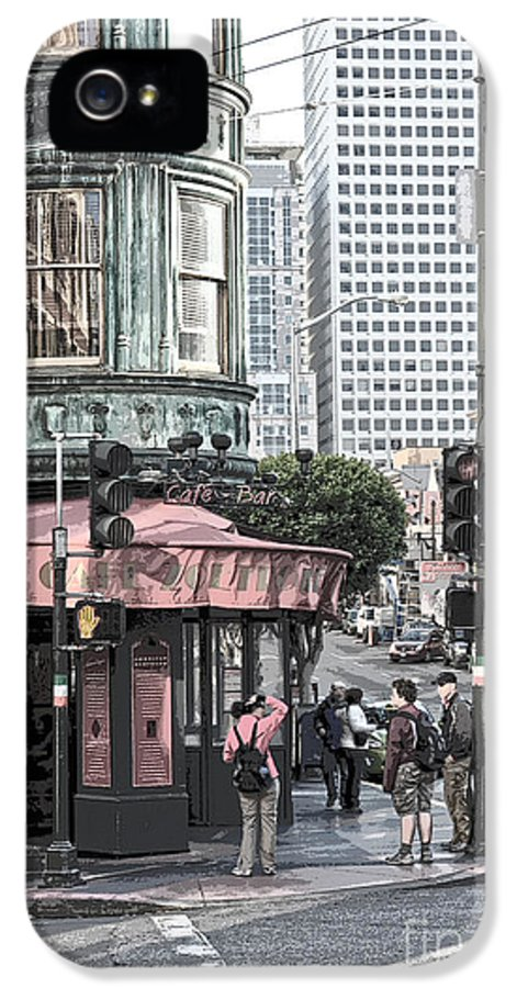 San Francisco IPhone 5 Case featuring the photograph Cafe Zoetrope by Artist and Photographer Laura Wrede