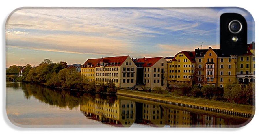 Danube River Germany IPhone 5 Case featuring the photograph Calm As Glass by Anthony Citro