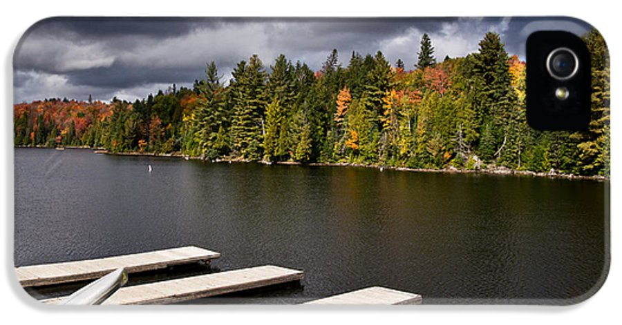 Canoe IPhone 5 Case featuring the photograph Canoe Lake by Cale Best