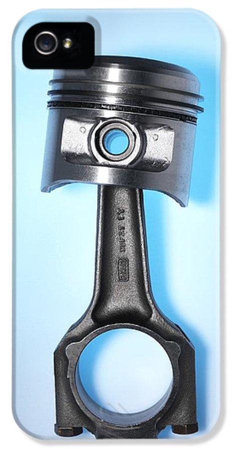 Studio Shot IPhone 5 Case featuring the photograph Car Engine Piston by Tek Image
