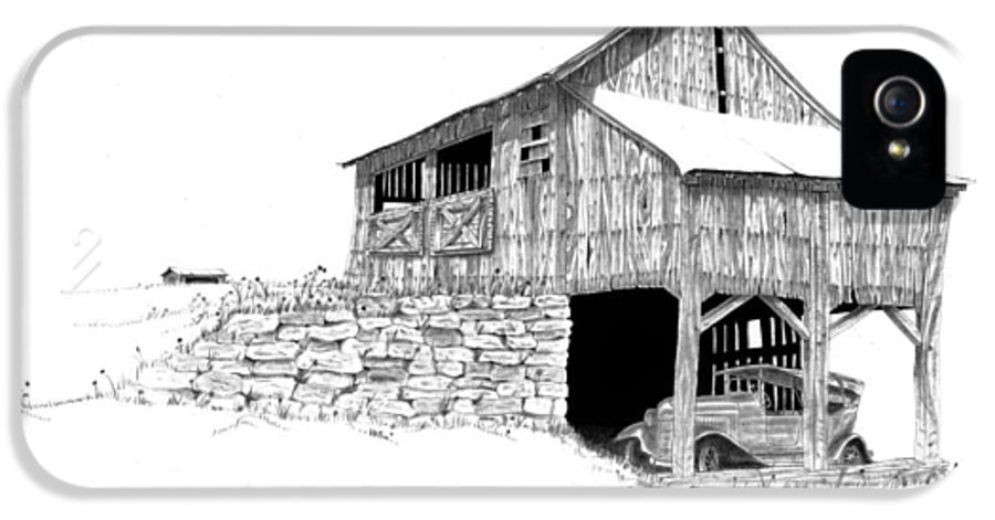 Old Barn IPhone 5 Case featuring the photograph Carriage House by Donald Black
