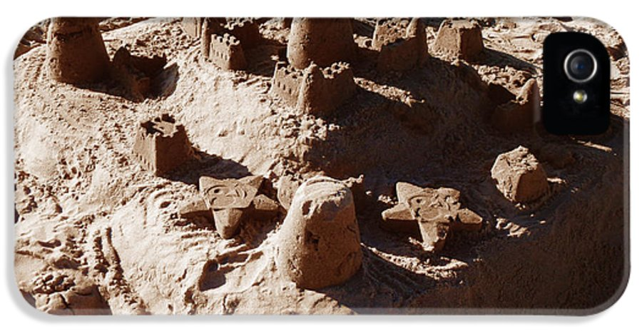 Sand IPhone 5 Case featuring the photograph Castles Made Of Sand by Xueling Zou