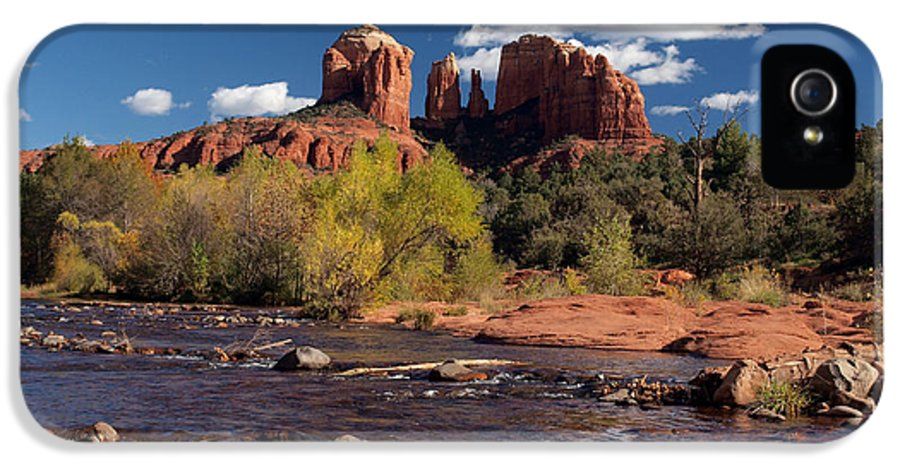 Cathedral Rock IPhone 5 Case featuring the photograph Cathedral Rock Sedona by Joshua House