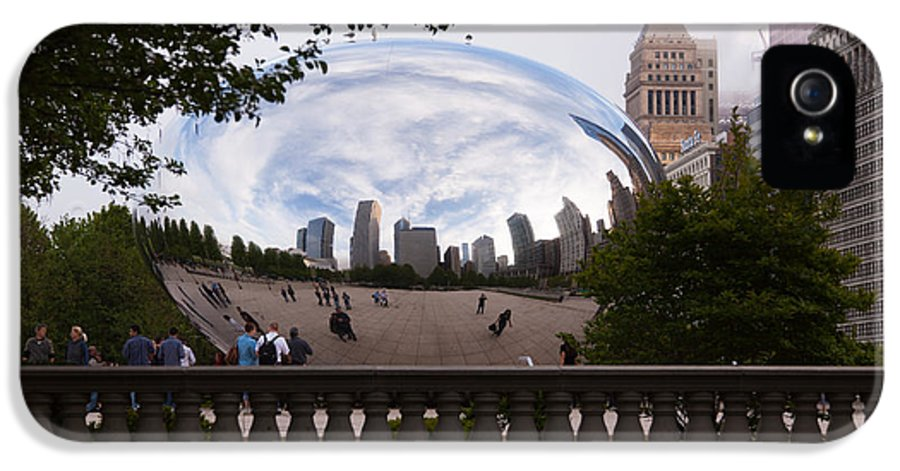 Chicago IPhone 5 Case featuring the photograph Chicago Cloud Gate Bean Sculpture by Paul Velgos