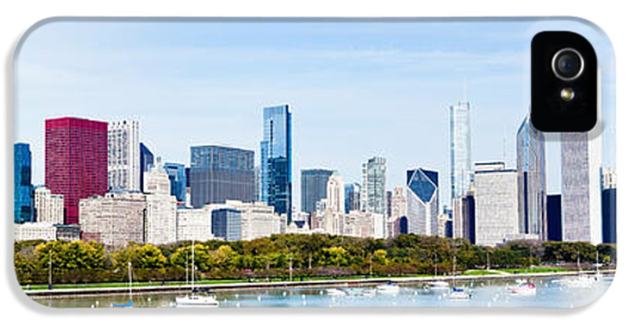 America IPhone 5 Case featuring the photograph Chicago Panorama Skyline by Paul Velgos