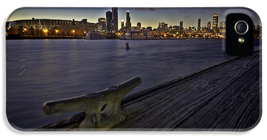 Harbor IPhone 5 Case featuring the photograph Chicago Skyline And Harbor At Dusk by Sven Brogren