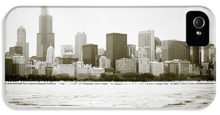America IPhone 5 Case featuring the photograph Chicago Skyline In Winter by Paul Velgos