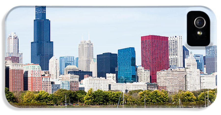 America IPhone 5 Case featuring the photograph Chicago Skyline Lakefront by Paul Velgos