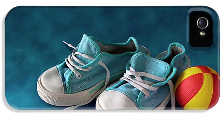 Child IPhone 5 / 5s Case featuring the photograph Children Sneakers by Carlos Caetano