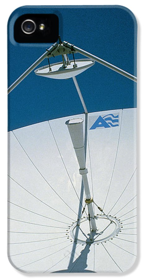 Business Communications IPhone 5 Case featuring the photograph Close Up Of A Satellite Receiver Dish by David Parker