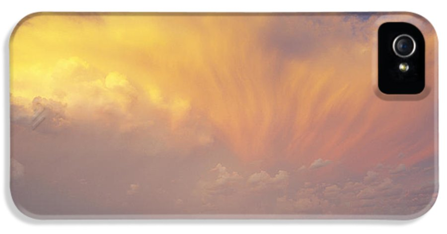 Canola IPhone 5 Case featuring the photograph Clouds Over Canola Harvest, Saint by Yves Marcoux