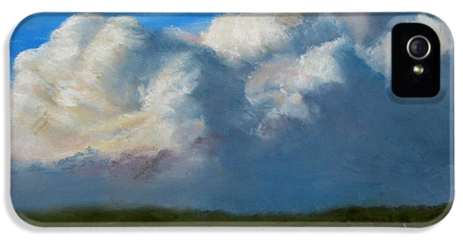 Clouds IPhone 5 Case featuring the painting Clouds Over The Meadow by Jack Skinner