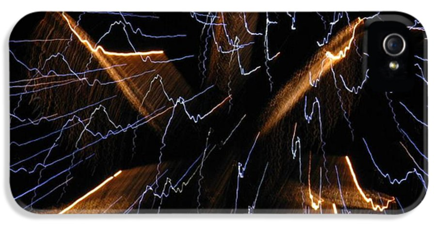 Firework IPhone 5 Case featuring the photograph Color Me Electric by Rhonda Barrett