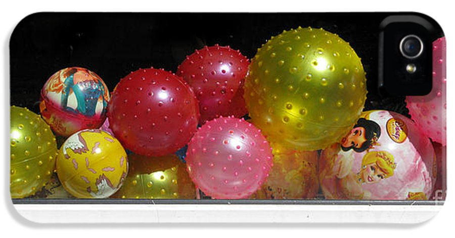 Still Life IPhone 5 Case featuring the photograph Colorful Balls In The Shop Window by Ausra Huntington nee Paulauskaite