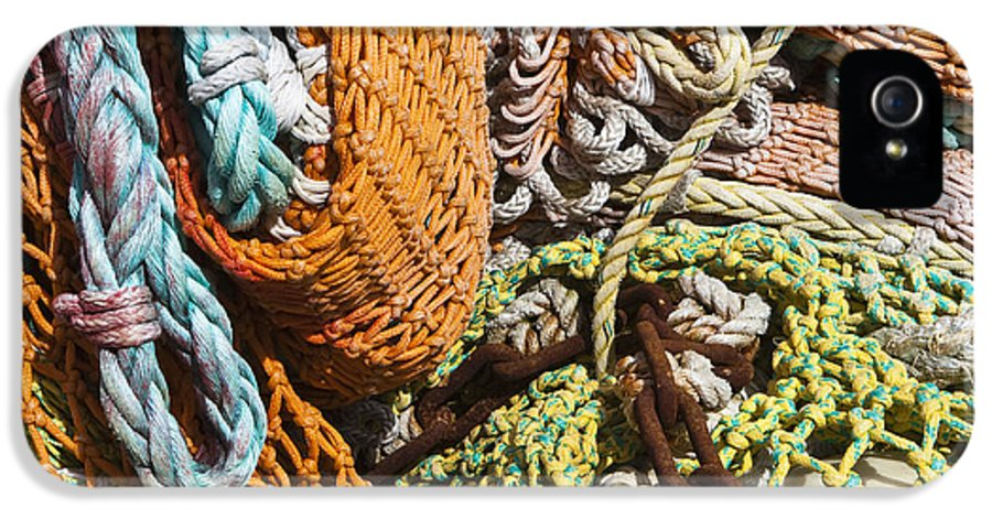 Business IPhone 5 Case featuring the photograph Commercial Fishing Nets And Rope by Paul Edmondson