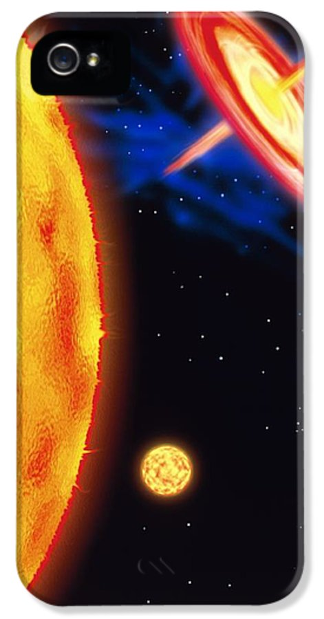 Star Evolution IPhone 5 Case featuring the photograph Computer Artwork Of Stages In A Star's Life by Victor Habbick Visions