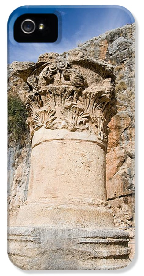 Ancient IPhone 5 Case featuring the photograph Corinthian Capital by Photostock-israel