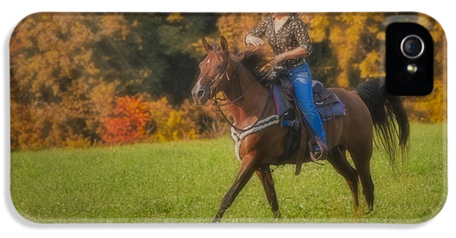 Horse IPhone 5 Case featuring the photograph Cowgirl by Susan Candelario