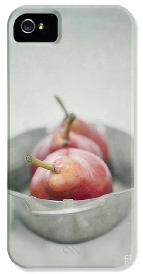 Pear IPhone 5 Case featuring the photograph Crimson And Silver by Priska Wettstein