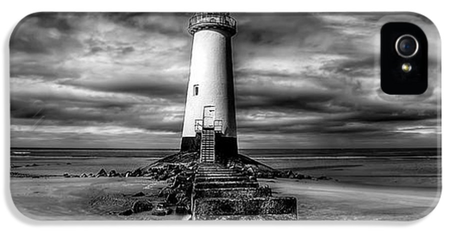 Beach IPhone 5 Case featuring the photograph Crooked Lighthouse by Adrian Evans
