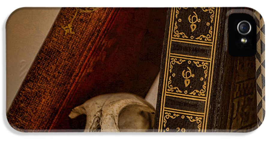 Bone IPhone 5 Case featuring the photograph Curiosity Killed The Cat by Heather Applegate
