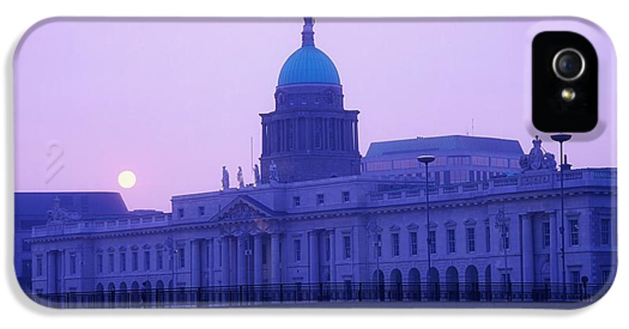 Building IPhone 5 Case featuring the photograph Custom House, Dublin, Co Dublin, Ireland by The Irish Image Collection