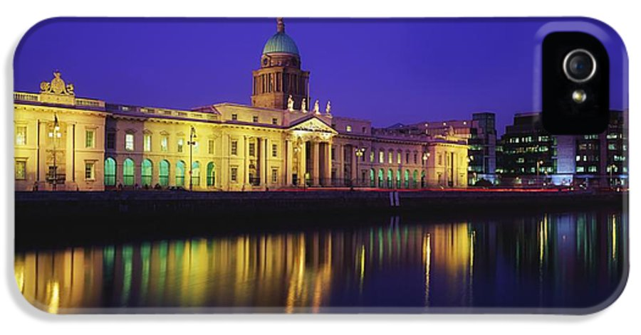 Blue Sky IPhone 5 Case featuring the photograph Custom House, Dublin, Co Dublin by The Irish Image Collection
