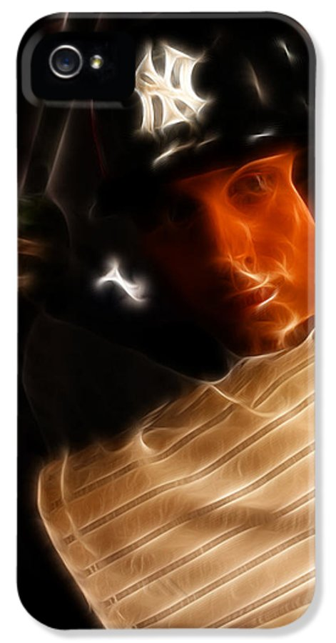 Lee Dos Santos IPhone 5 Case featuring the photograph Derek Jeter - New York Yankees - Baseball by Lee Dos Santos