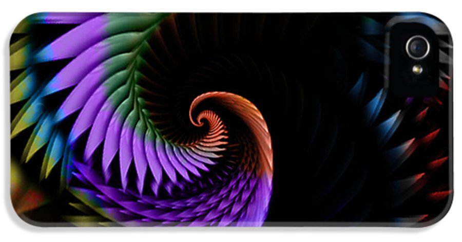Abstract IPhone 5 Case featuring the digital art Descending Flight by Anthony Caruso