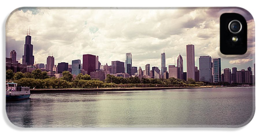 2012 IPhone 5 Case featuring the photograph Downtown Chicago Skyline Lakefront by Paul Velgos