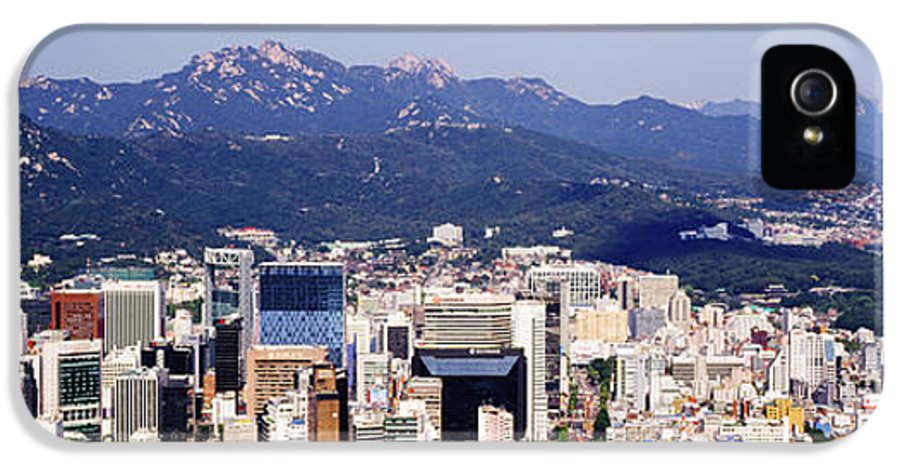 Apartment IPhone 5 Case featuring the photograph Downtown Seoul Skyline by Jeremy Woodhouse