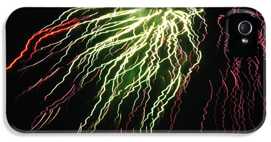 Fireworks IPhone 5 Case featuring the photograph Electric Jellyfish by Rhonda Barrett