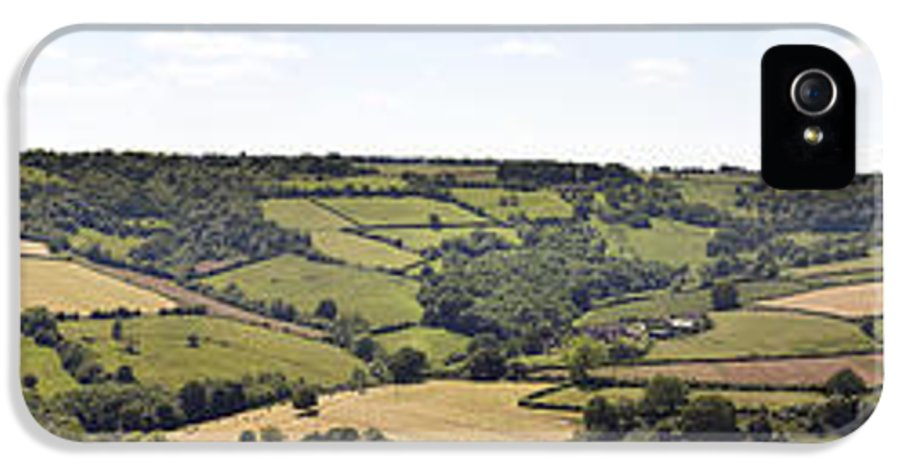 Agricultural IPhone 5 Case featuring the photograph English Countryside Panorama by Jane Rix