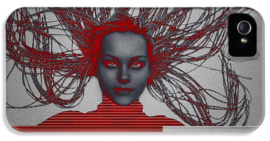 Meditation IPhone 5 Case featuring the digital art Enlightnment by Naxart Studio