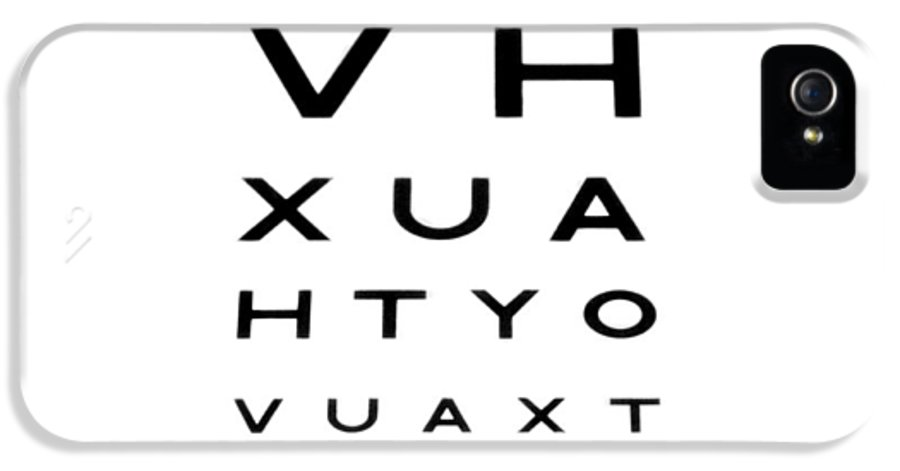 Cut Out IPhone 5 / 5s Case featuring the photograph Eyesight Test Chart by