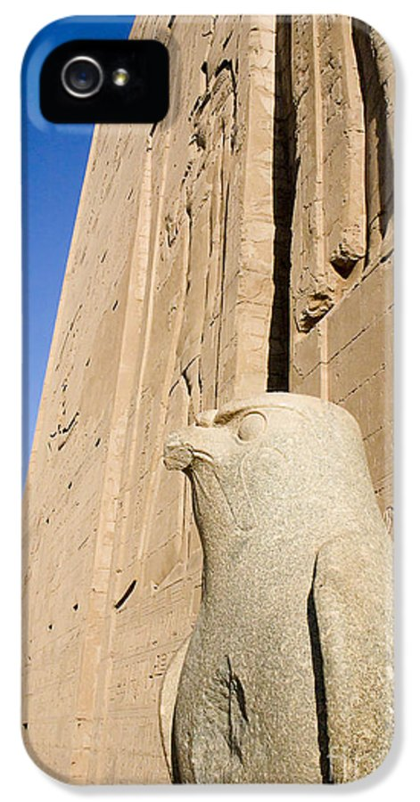 Africa IPhone 5 Case featuring the photograph Falcon Statue At Edfu by Darcy Michaelchuk