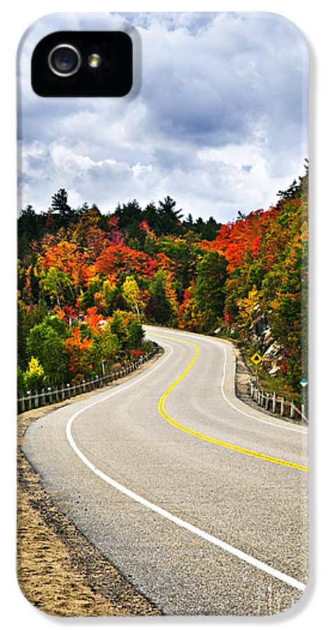 Road IPhone 5 Case featuring the photograph Fall Highway by Elena Elisseeva