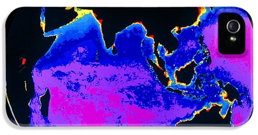 Phytoplankton Distribution IPhone 5 Case featuring the photograph False Colour Image Of The Indian Ocean by Dr Gene Feldman, Nasa Gsfc