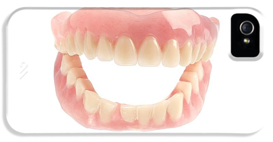 Cut Out IPhone 5 Case featuring the photograph False Teeth by