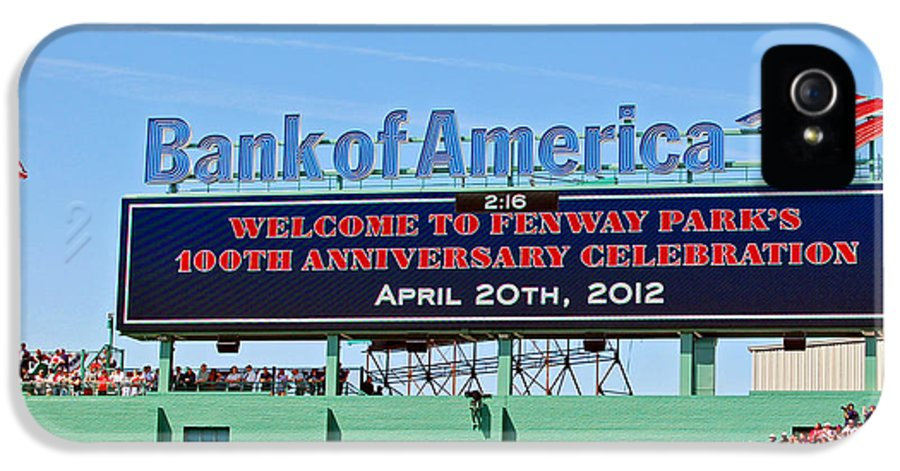 Fenway Park IPhone 5 Case featuring the photograph Fenway's 100th by Joann Vitali