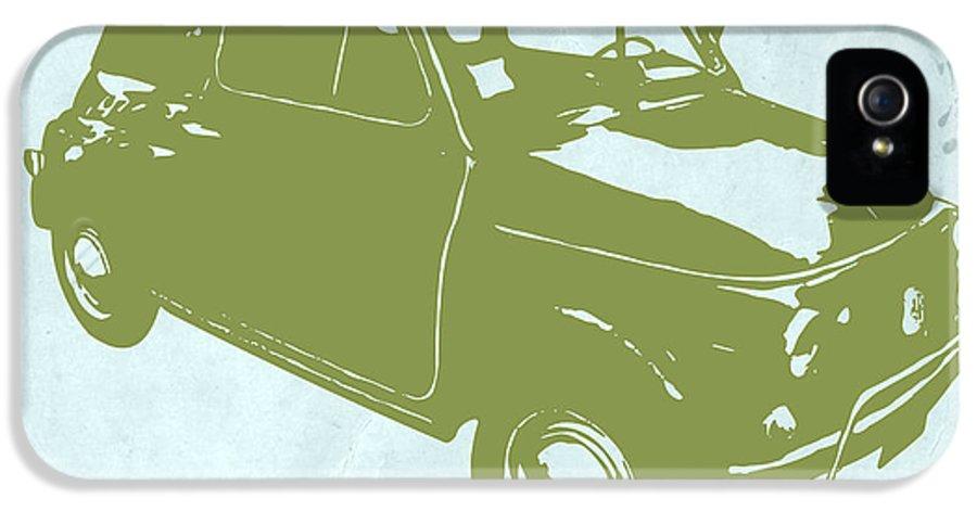 Fiat 500 IPhone 5 Case featuring the digital art Fiat 500 by Naxart Studio