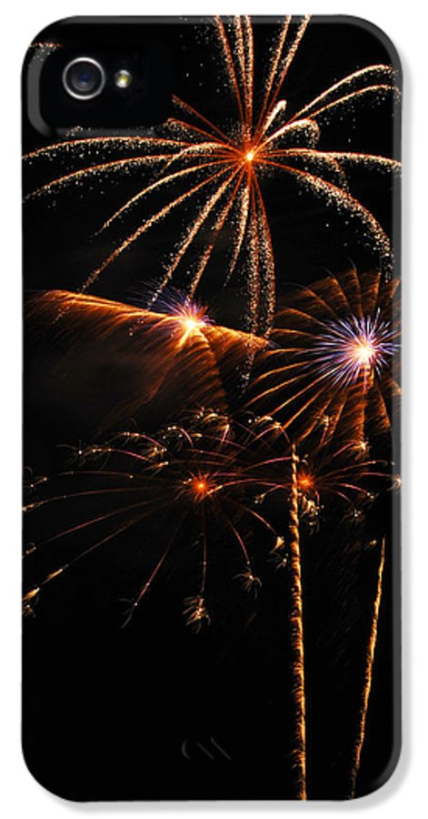 Fireworks IPhone 5 Case featuring the photograph Fireworks 1580 by Michael Peychich