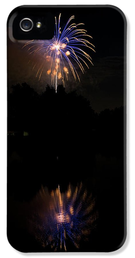 4th Of July IPhone 5 Case featuring the photograph Fireworks Reflection by James BO Insogna