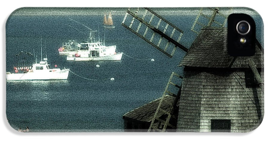 Fishing Boats IPhone 5 / 5s Case featuring the photograph Fishing Boats And Windmill In Chatham On Cape Cod Massachusetts by Matt Suess